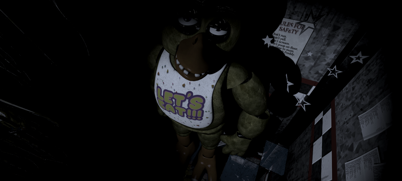 Is 1:56 Me: Wait. Chica is where. Wait. SHE IS OVER HERE?!