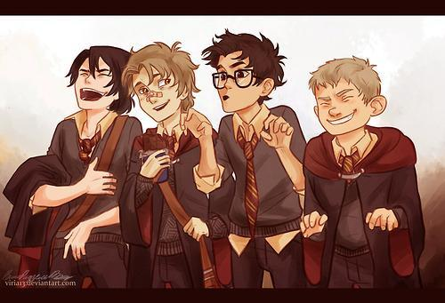 Who were the four marauders and what could they turn into? (Select 4)