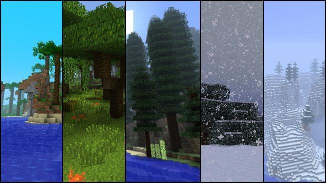 Which biomes are in minecraft xbox 360?