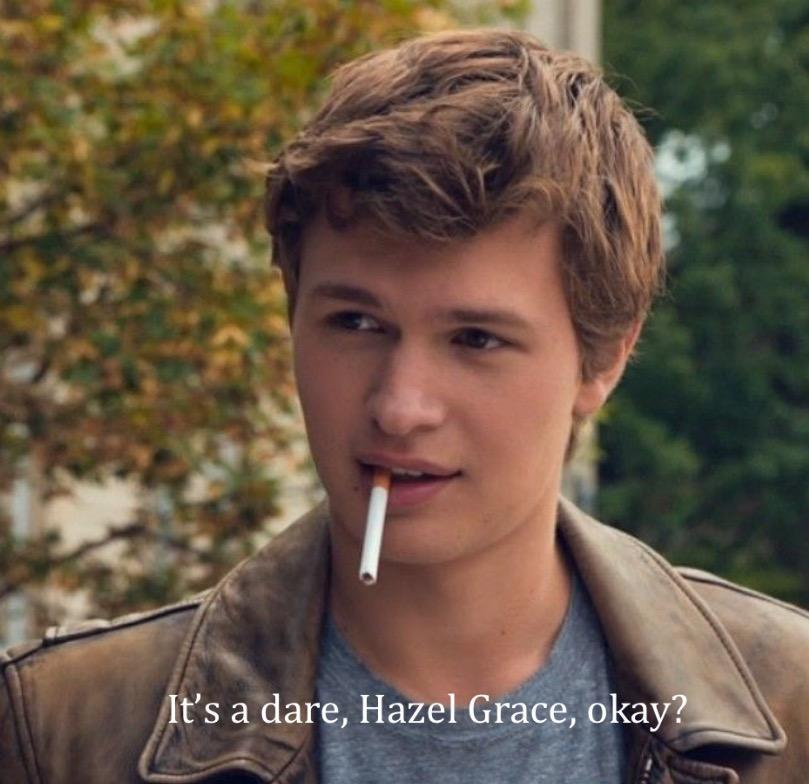 Why is Augustus smoking?