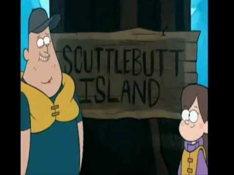 In Legend of The Gobblewonker, when Dipper, Mabel and Soos came on the island, Soos covered half of the island's name, so it turned to be...?