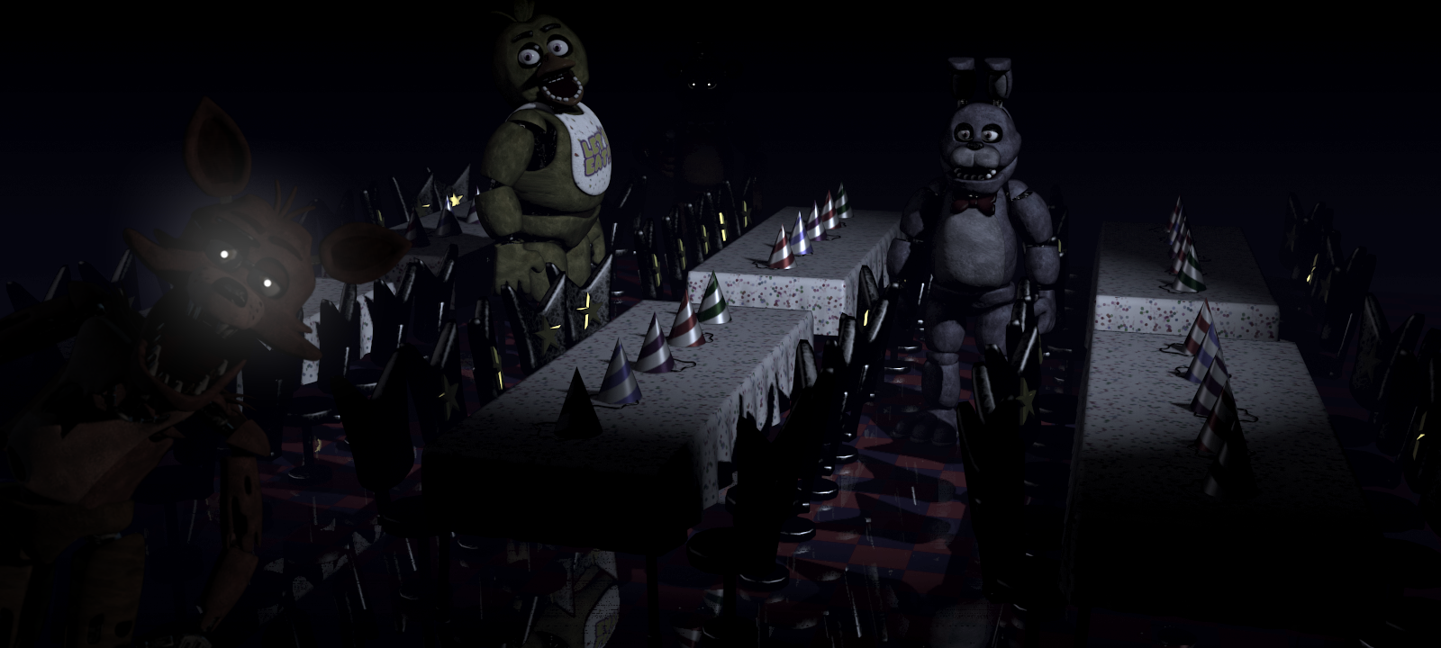 What happens when an animatronic finds you in FNaF?