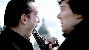 "In which episode did Moriarty kill himself in the TV Series ""Sherlock""?"