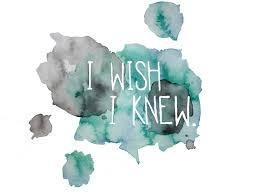 I wish I knew how to...
