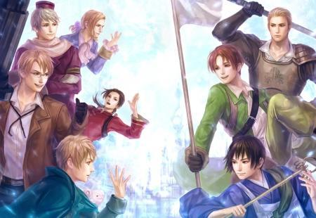 Whic two 'teams' are rivals in Hetalia?