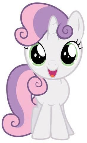 Just then, a white Filly with Violet Mane enters.  Rarity : That's Sweetie Belle! My younger sister! A total Music addict, you know... Twilight : That's Right! Sweetie Belle : Hi there, Dodo! Wanna Play?