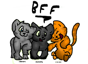 Who are Firepaw's main friends?