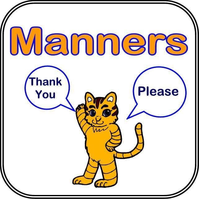 Click all the steps that go along with proper manners.