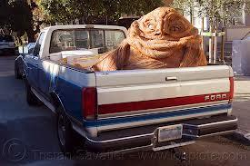 What did Jabba the Hut use to travel in the desert?