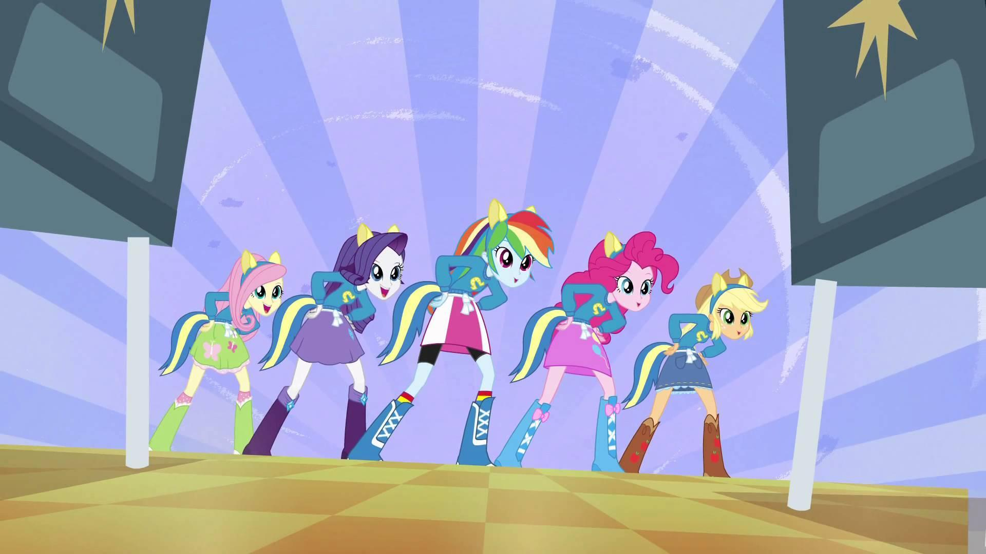 What is the name of The song that the Equestria Girls sing in the Cafeteria?