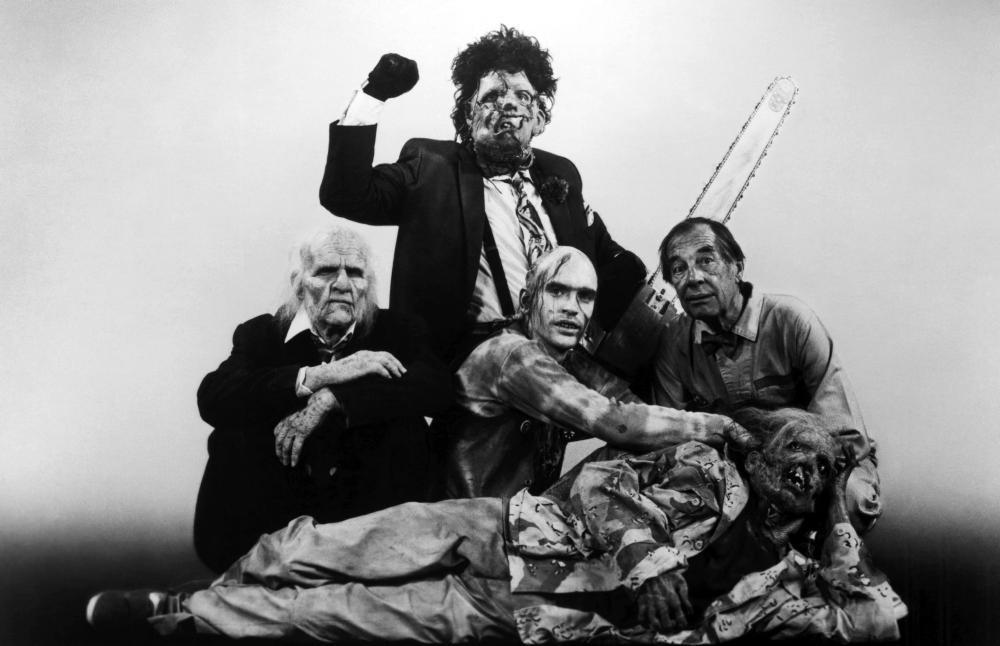In the film Texas Chainsaw Massacre, what did Leather Face do to his victims?