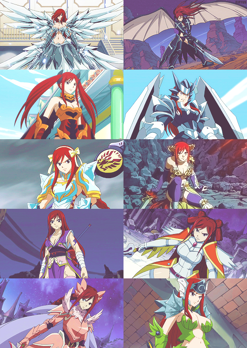 Which is Erza's favorite re-equip?