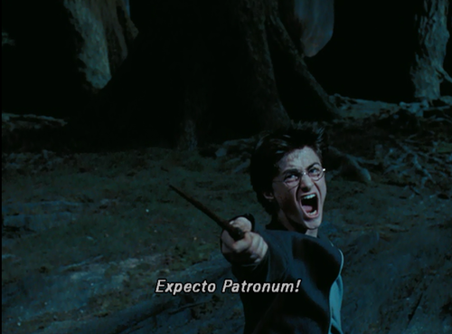 """Expecto Patronum!"" Is a spell that"