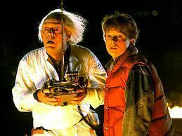 In the 1st Back To The Future, what year did the doc and Marty visit?