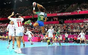 What holds the Handball and something else?