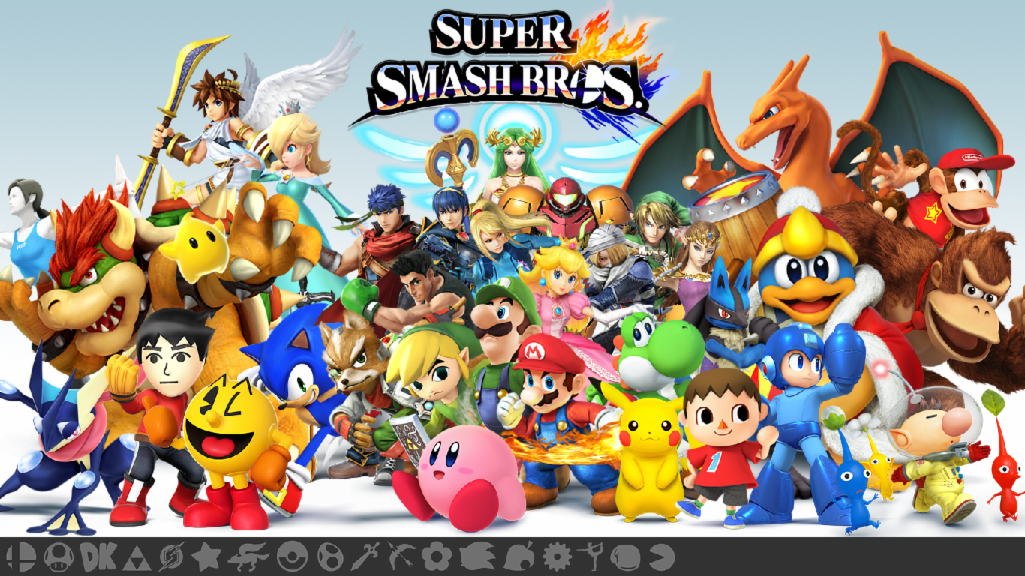 Who is shown in Super Smash Brothers to represent Animal Crossing's game?