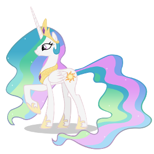 What is the name of Equestria's princess/ruler? (Hint: She was Twilight Sparkles mentor)