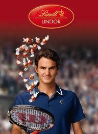 Last question. Who sponsors Lindor chocolate? I'll give you a few clues; it's a man, he is a famous tennis player!