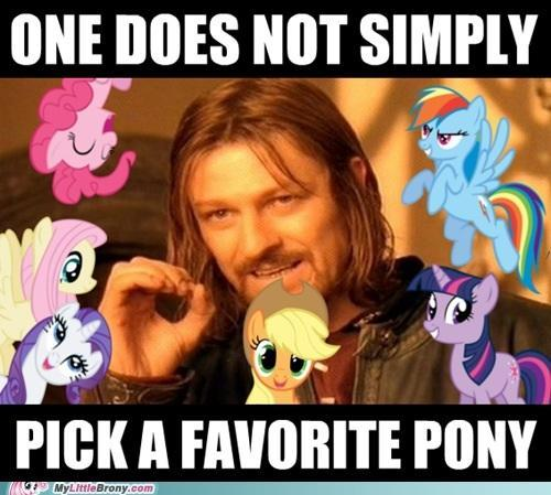 Which pony do you think you would be? not just based on looks.