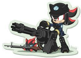 shadow: *laughing* sonic: ? hey shads! what you laughing at? shadow: i upgraded my knew gun!!!! and i wanna test it on you!!!! sonic: *screaming like a little girl running for his life* shadow: great thing Umber taught me to fake laugh.