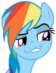 What is rainbow dash's personality? (select two)