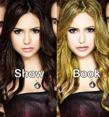 In the book, what hair color did Elena have?