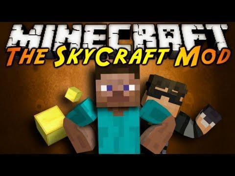 Who often accompanies Sky in his newer mod showcases?