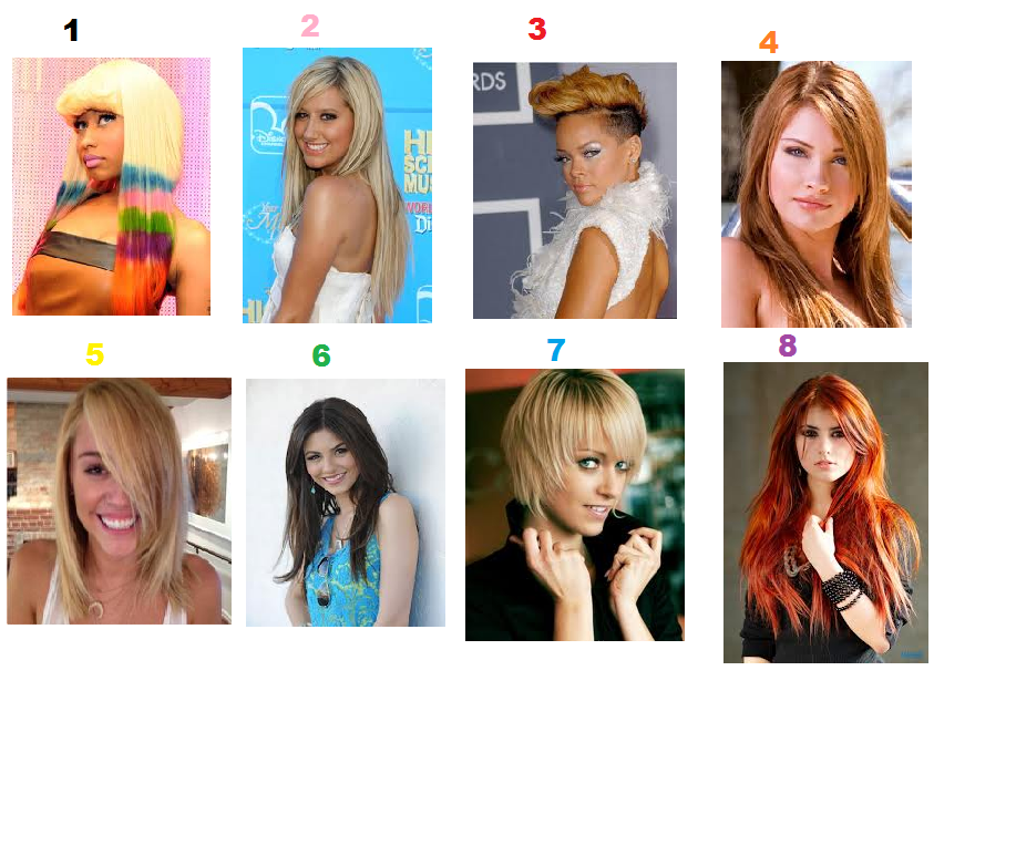 Which hairstyle looks coolest to you? ( click picture to make it bigger)