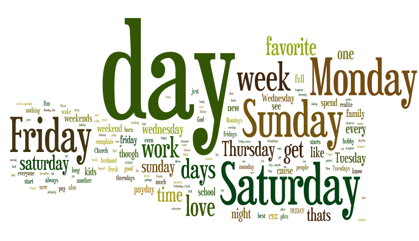 What is your favorite day of the week?