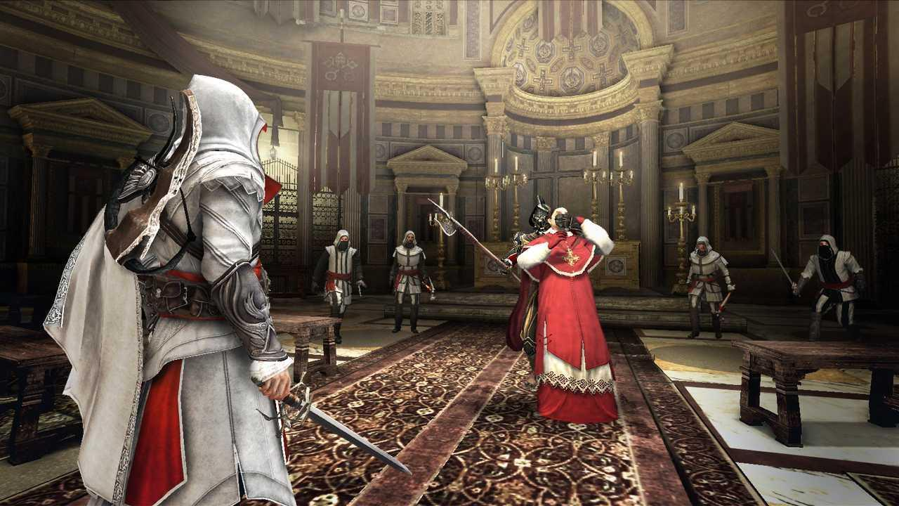 Which of the these are among Ezio's assassination targets in Assassin's Creed Brotherhood?
