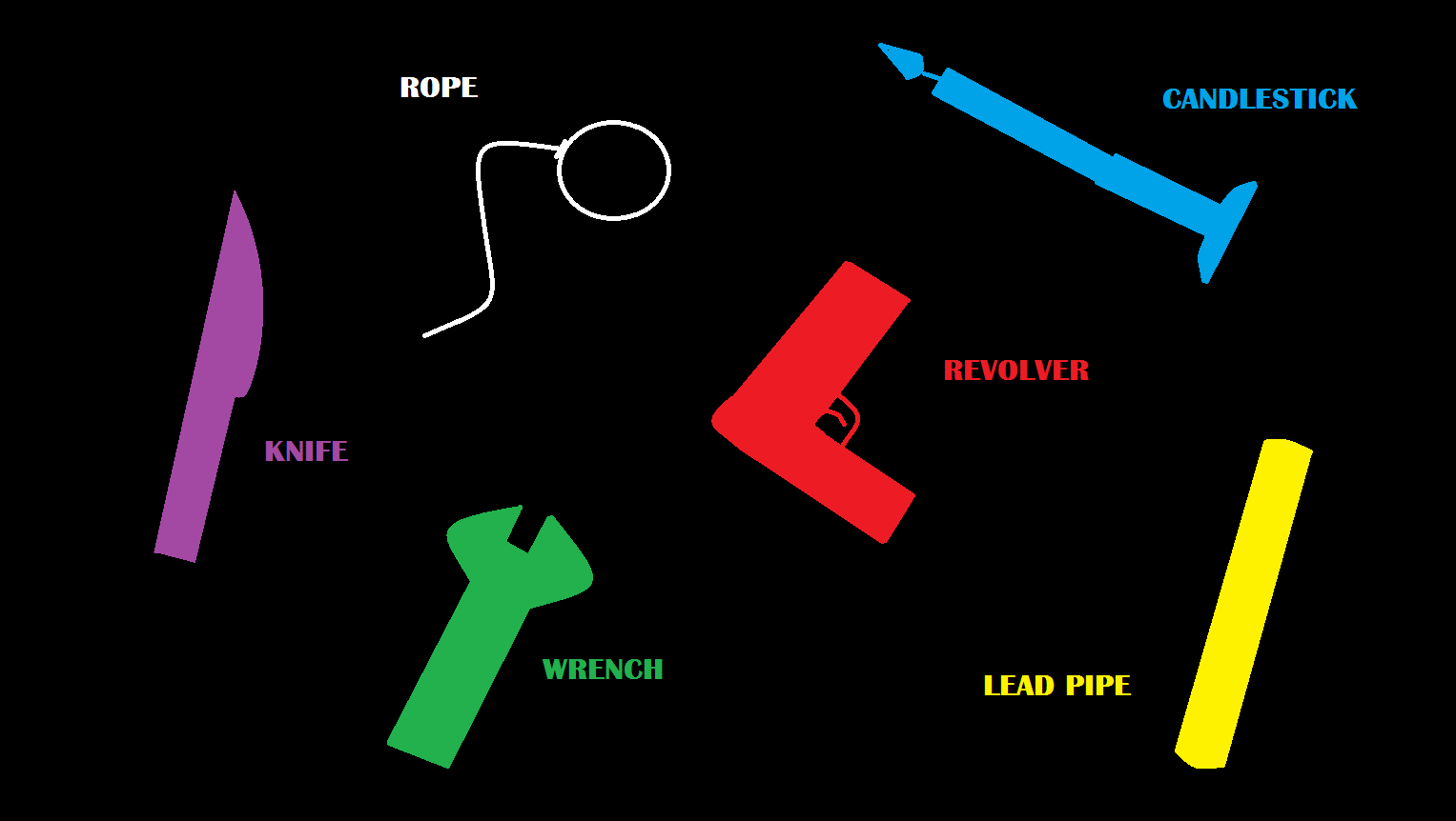 What is your favorite weapon?Is it the knife?Is it the rope?Each character has their favorite.