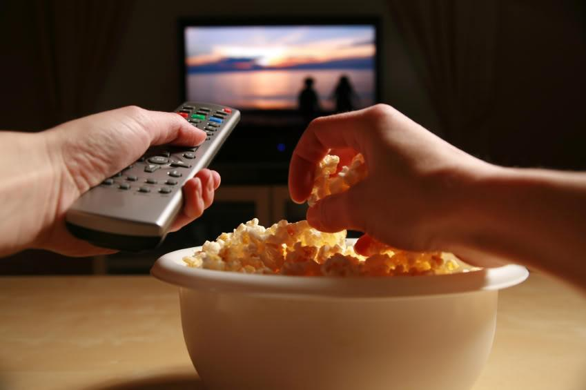 When watching TV you're likely to...