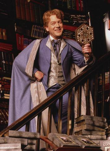 What is the name of the British actress who plays the parent of a Gryffindor student who admires Gilderoy Lockhart and his books and what she believes is his own work when really unknown to all fans he is a fraud?