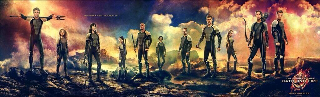 in catching fire who did katniss assemble as a team?