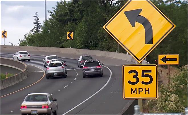 ODOT is installing a warning sign at the I-5/Highway 217 crash that's been the site of a string of accidents. How much does will the sign cost?
