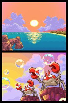 "I sighed and looked at the Krabby blowing bubbles as the sunset. It was always beautiful. I smiled and noticed a fainted pokemon. ""Are you okay?"" I asked running over to the mysterious pokemon worried."