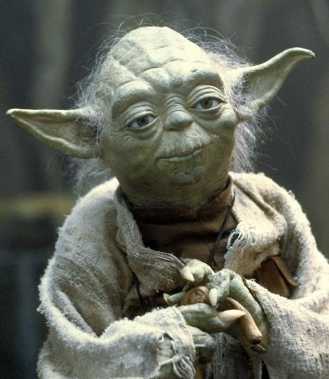 what color and style hair did yoda have when he was young