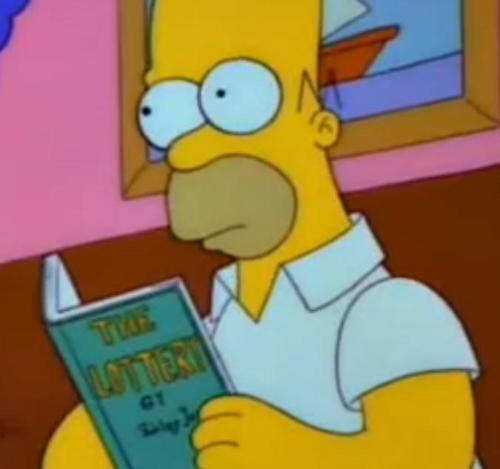What was the first book that Homer threw in the fire?