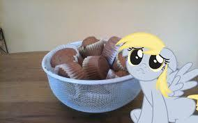 If you have a muffin and derpy is playing with you what do you do with the muffin