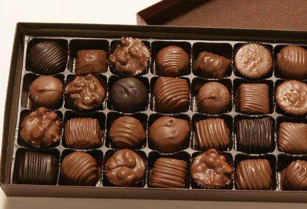 What do you see? (if for some reason the picture doesn't show up, it's a box of chocolates)