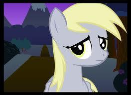 "She starts talking. ""Hiya there! I'm Ditzy Doo! But you can call me Derpy if you want."""