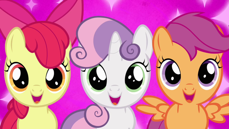 Name the three Cutie Mark Crusaders.