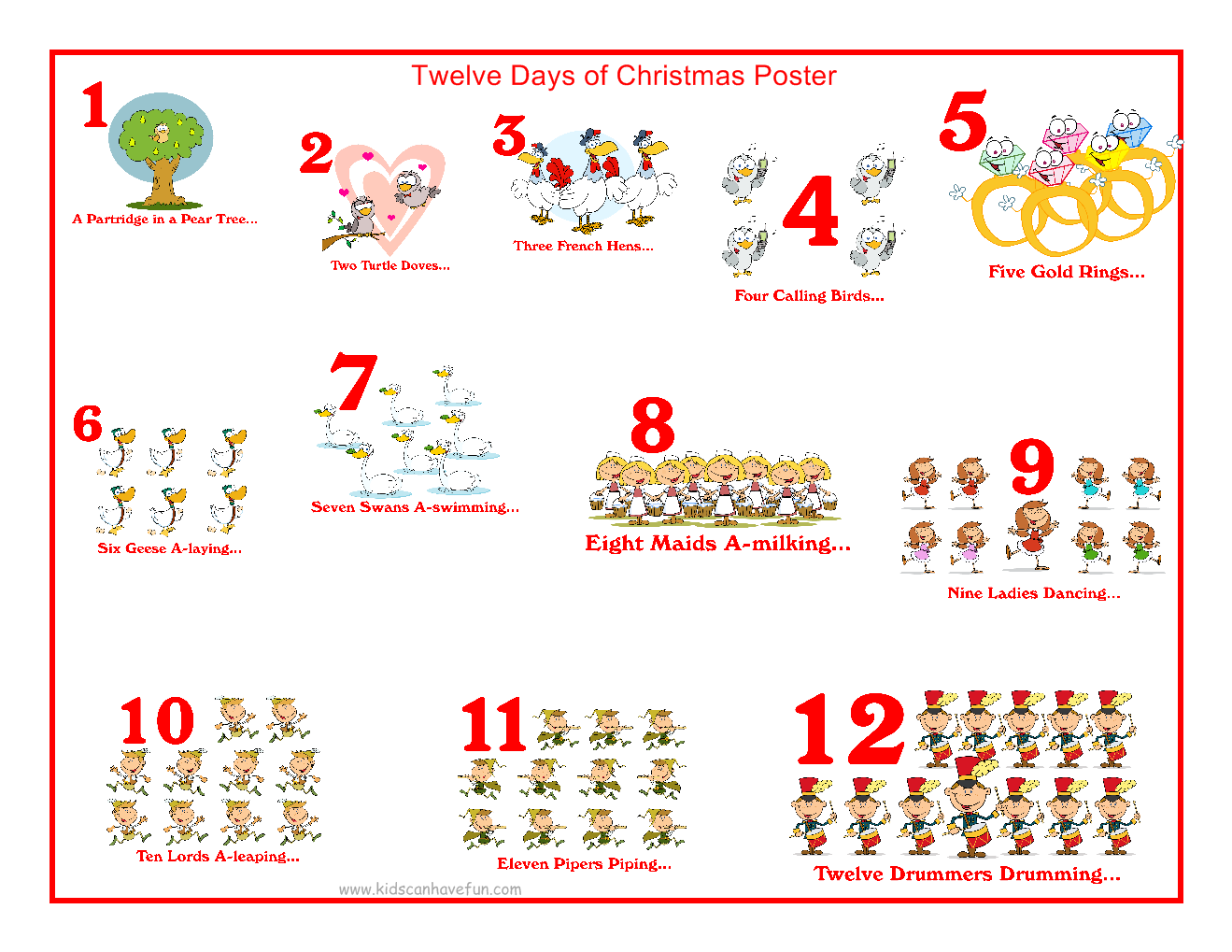When are the 12 days of Christmas?