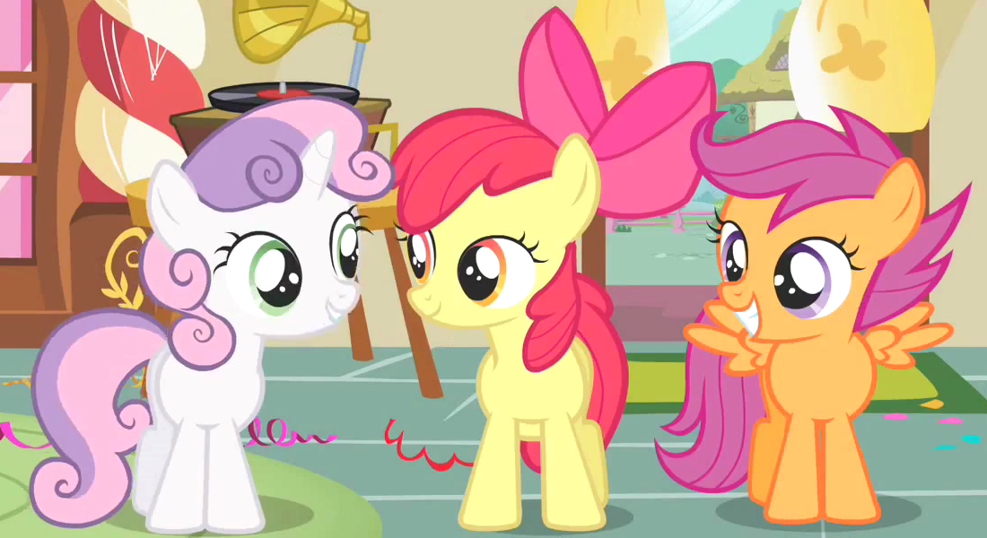 In season 1 episode 23 featuring The Cutie Mark Chronicles, the Cutie Mark Crusaders set out to find their special talent. Bumping into a few ponies, they ask them how they got their cutie marks. Who was the first pony the ran into?