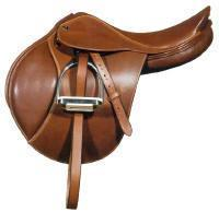 In a English saddle what part is the bump where your knee rests?