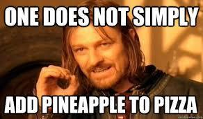 Pineapple on pizza - pick it off or leave it on?