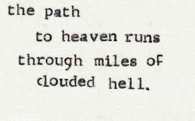 Name the song: 6. The path to heaven runs through miles of clouded hell. Don't look back. Packing my bags.