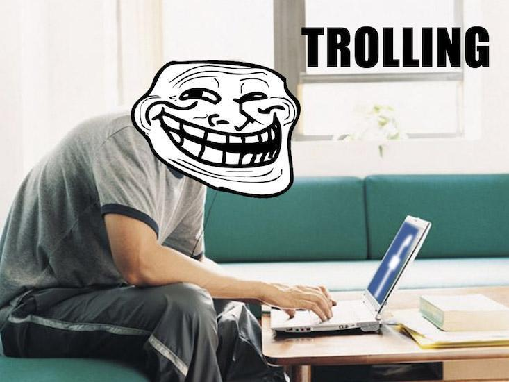 Someone starts trolling you on the internet. What do you do?