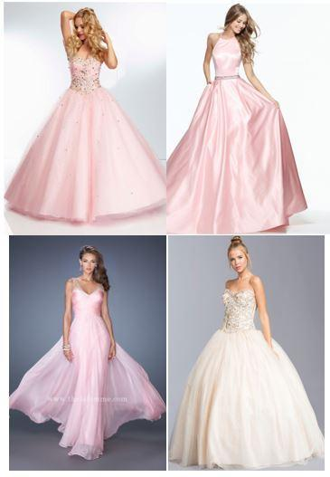 Which pink dress dazzles your eyes?