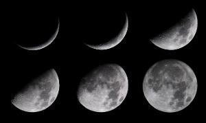 What do we call the different shapes of the Moon that we see?